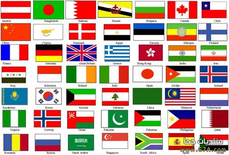 صوره اعلام دول العالم واسمائها بالعربي