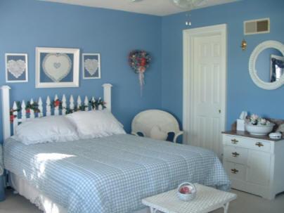 الالوان السماوية في غرف النوم الجميلة