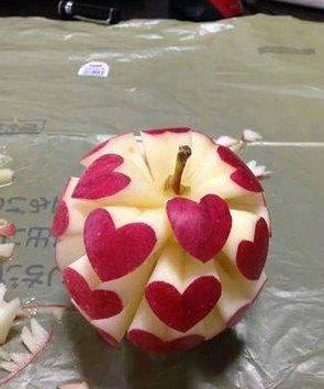 صوره صور الرسم على التفاح جديدة