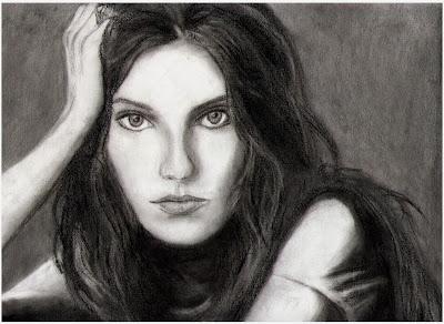 رسم فتاة بالرصاص