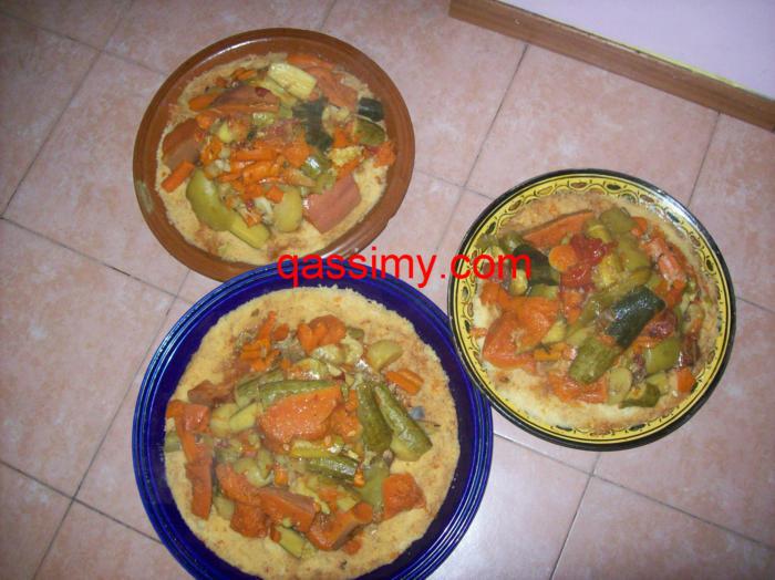 صورة انواع الكسكس الجزائري  الطعام – الكسكسي  البربوشة – السكسو