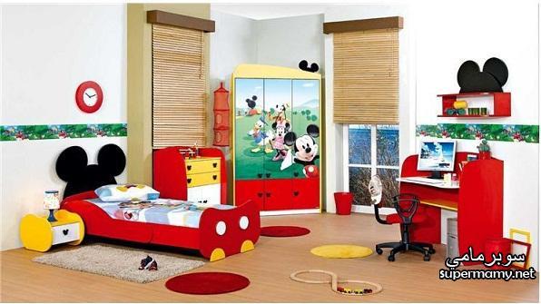 صور غرف نوم اطفال ميكي ماوس