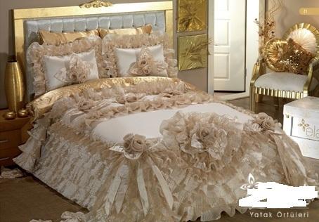 بالصور اجمل مفارش سرير للعروسة بكل الالوان 2f0e11e46b407167c6bf515c0745662c