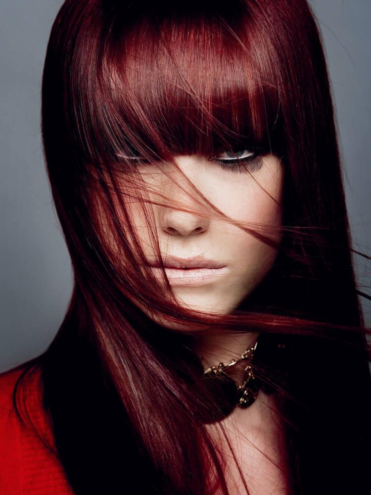 صورة صور صبغات شعر بني احمر 2020