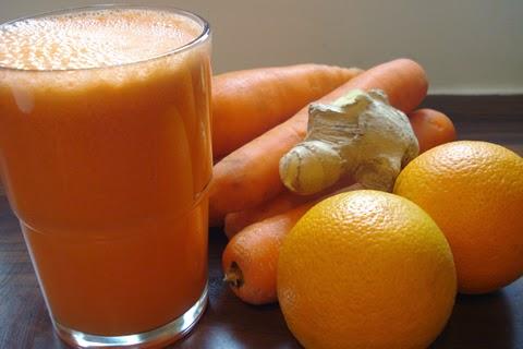 فائدة عصير الجزر و البرتقال