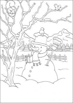 صور كيفية رسم فصل الشتاء