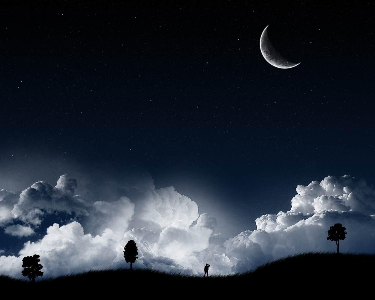 صوره كلمات عن الليل همسات فى هدوء الليل