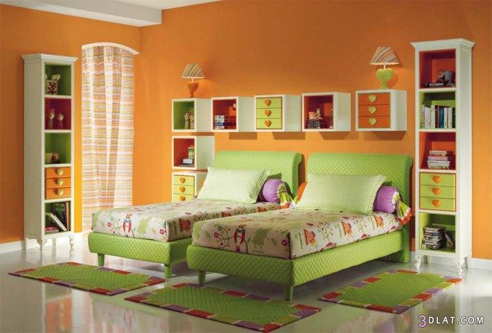 صوره غرف نوم اطفال بسريرين