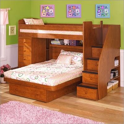 صور غرف نوم اطفال دورين للمساحات الضيقة