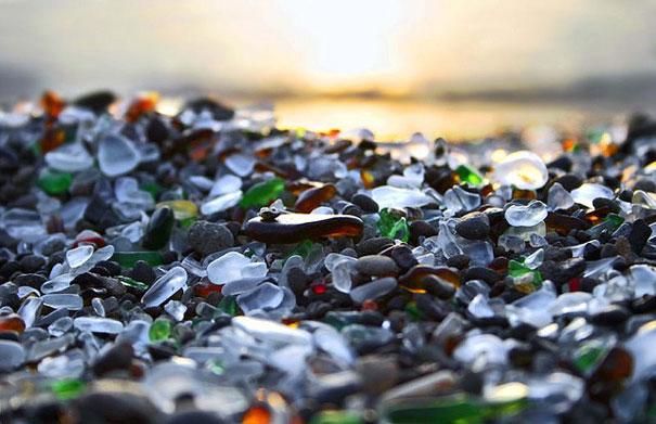 صوره شاطئ الزجاج في كاليفورنيا