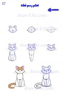 صورة تعلم كيف ترسم قطة , ابدعي مع طفلك باسهل طريقة للاطفال للرسم