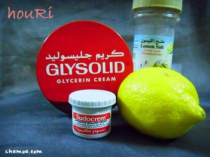 صور فوائد الجليسوليد والليمون للوجه