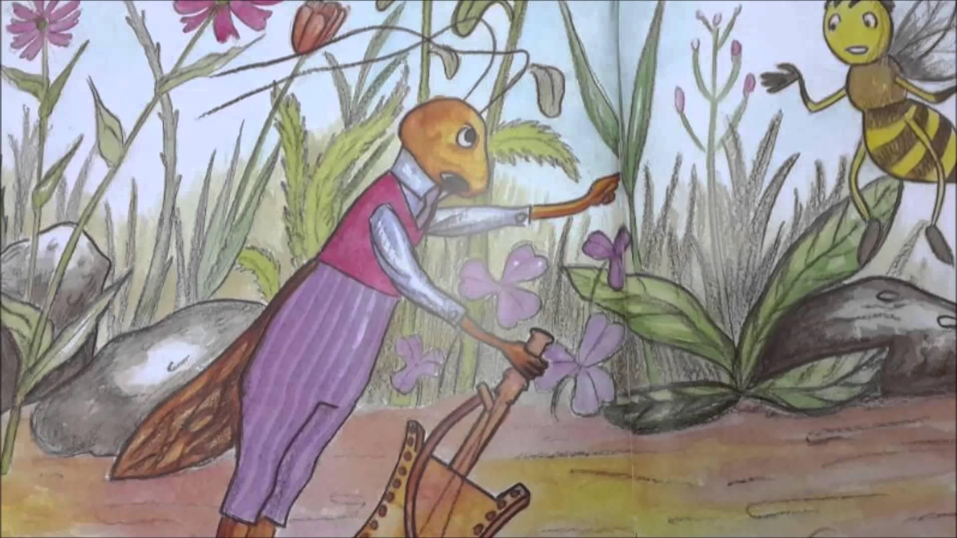 صوره قصة النمل والصرصور مكتوبه