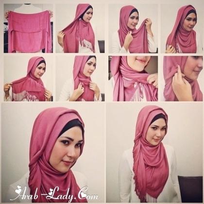 بالصور لفات حجاب عصرية جديده afb3da94957c2ab19bc7d25410d7dfdb