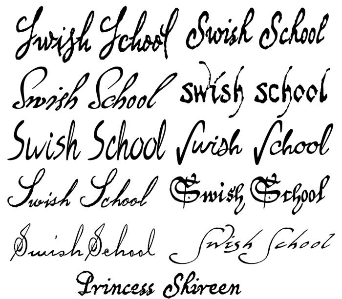 خطوط انجليزية للفوتوشوب Photoshop Brushes اجمل بنات