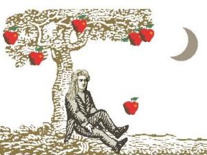 صوره قانون الجاذبية التفاحة لنيوتن