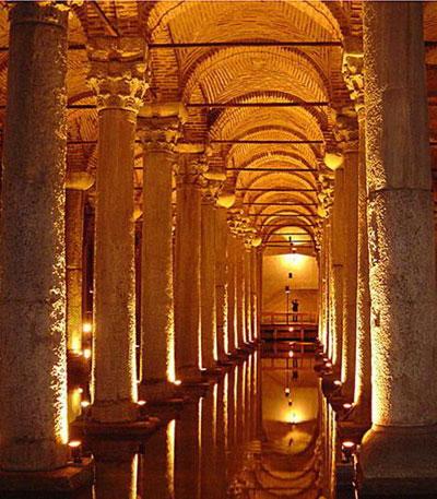 الاماكن ألسياحيه أسطنبول .<br />..تعرف أسمائها the-cistern-basilica