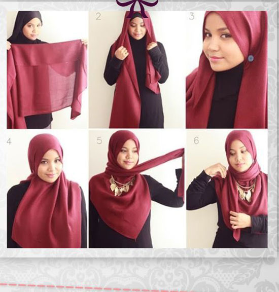 صوره كيفية وضع الخمارات والحجاب