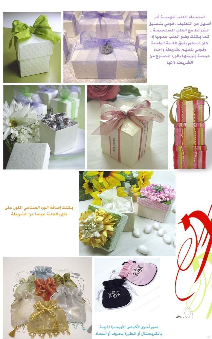طريقَة تغليف الهدايا  شَرحِ طريقَة تغليف علب الهدايا بالصور  صور لشرحِ عمل الهدايا