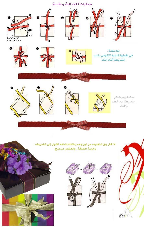صوره كيفية تغليف علب الهدايا
