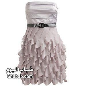 صوره اخر موضة الفساتين القصيرة فساتين سهرة للرشيقات