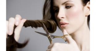صور كيفية قص الشعر في البيت