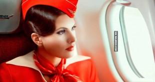 صورة اجمل مضيفة طيران في العالم , صور مضيفات يظهرن باطلالة جديدة وغريبة