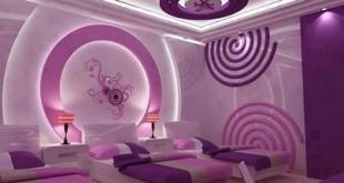 صور دهانات غرف النوم باللون الموف