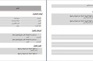 بالصور كتابة السيرة الذاتية بالعربي نموذج سيرة ذاتية عربي 310x205