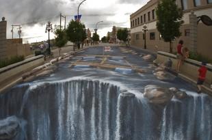 صوره فن الرسم على الارض