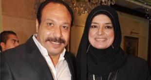 صورة اسرار بين خالد صالح وزوجته