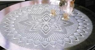 صورة مفارش طاولات كروشيه بالباترون