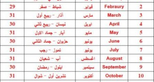 صوره اسماء الاشهر الميلاديه العربيه
