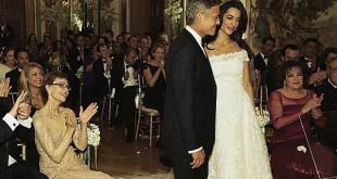 صوره زفاف جورج كلوني وامل علم الدين