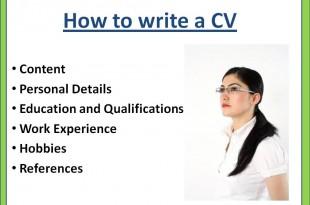 صوره كيفية كتابة وتقديم cv