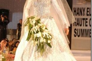 صوره اناقة فساتين زفاف لحنان ترك