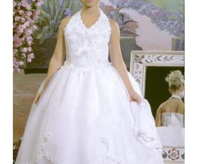 بالصور فساتين بنات صغار جديدة organza halter v nek ball gown style hot sell flower girl dress fl 0058 400x330