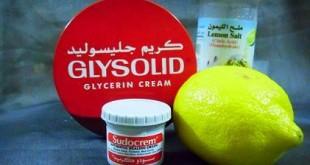 صوره فوائد الجليسوليد والليمون للوجه