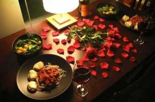 صوره عشاء رومانسي في البيت
