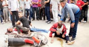 صور حادثة مروعة بالموتوسيكل بالصور