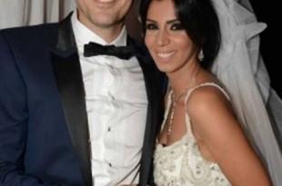 صوره احمد عز وزوجته الصور الاولى من عقد قران الفنان