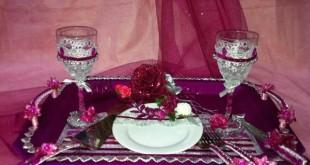 صوره طريقة تزيين صينية العروس