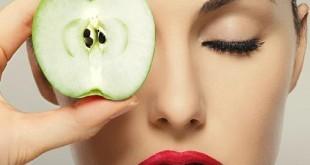 صوره ماسك للوجه بخل التفاح تقشير طبيعي مره جنان وبشره مثل البيبي