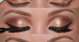 صور طريقة سهلة لعمل مكياج العيون