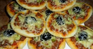 صوره طريقة عمل ميني بيتزا