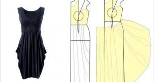 بالصور تعلمي كيف تفصلين باترون فستان KuDx5NPDUB01 310x165