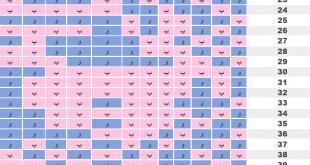 صوره الجدول الصيني لتحديد جنس المولود