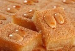 صورة طريقة عمل البسبوسة بالزبادي , مقادير لاسهل حلوى مسكره