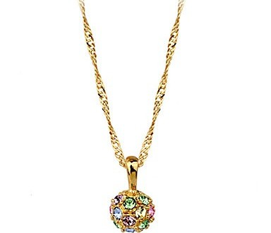 بالصور صور سلاسل دهب جميله elegant 18k gold plated alloy with cubic zirconia women s necklace sfihit1373350017865 384x330