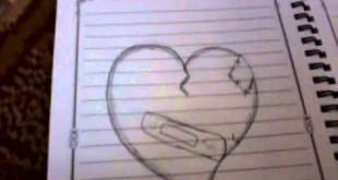 صور كيفية رسم قلب حب